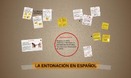 LA ENTONACIÓN EN ESPAÑOL