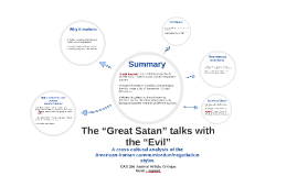 """The """"Great Satan"""" talks with"""