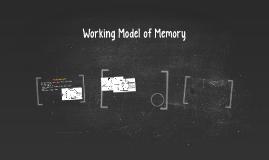 Working Model of Memory