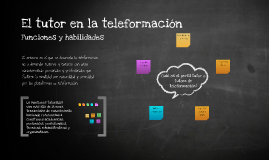 Copy of El tutor de teleformación