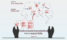 Implementacija konceptualnog testa u nastavi fizike