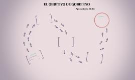 EL OBJETIVO DE GOBIERNO