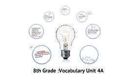 Copy of 8th Grade Vocabulary Unit 4A