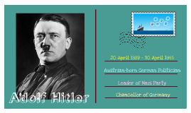 Business & Management - Leadership: Adolf Hitler