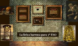 La lírica barroca para 3º ESO