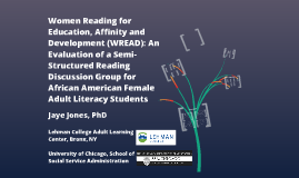 Women Reading for Education, Affinity and Development (WREAD): An Evaluation of a Semi-Structured Reading Discussion Gro