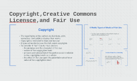 Copyright,Creative Commons Licensce,and Fair Use