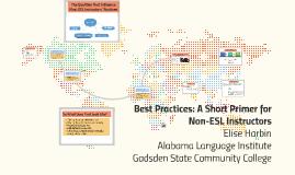 Copy of Best Practices Transfer: A Short Primer for Non-ESL Instructors