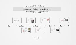 Germany between 1918-1933