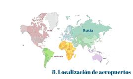 8. Localización de aeropuertos