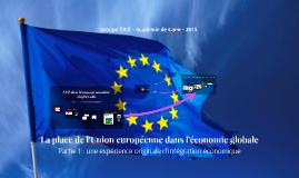 La place de l'Union européenne dans l'économie globale