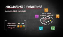 HOMÒNIMS I PARÒNIMS