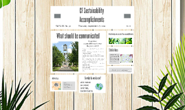 CF Sustainability Accomplishments