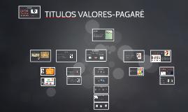 TITULOS VALORES-PAGARÉ
