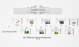 Madhava Narasimhadevara Tea Timeline