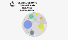 GLOBAL CLIMATE CHANGE AND RELATED PHENOMENA