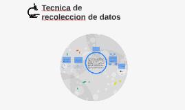 Tecnica de recoleccion de datos