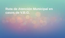 Ruta de Atención Municipal en casos deVBG y