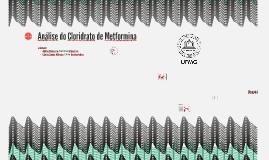 Análise do Cloridrato de Metformina