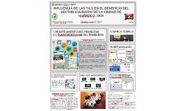 INFLUENCIA DE LAS TICS EN EL BENEFICIO DEL SECTOR CULINARIO