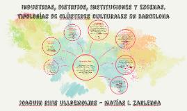 Tipologías de clústeres culturales en barcelona