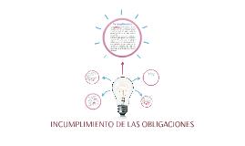 INCUMPLIMIENTO DE LAS OBLIGACIONES