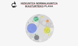 HIZKUNTZA NORMALKUNTZA IKASTURTEKO PLANA