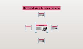Microhistoria e historia regional