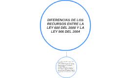 DIFERENCIAS DE LOS RECURSOS ENTRE LA LEY 600 DEL 2000 Y LA L