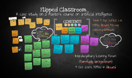 Flipped classroom - a case study on a master's course in AI