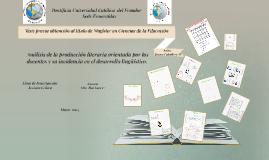 Tesis: previa obtención al título de Magíster en Ciencias de