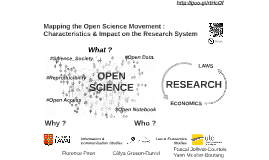 Mapping the Open Science Movement : Characteristics and Impact on the Research System ( CRI Opening Days)
