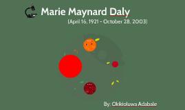 Marie Maynard Daly