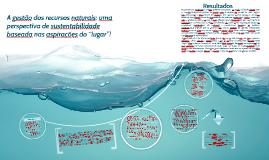 A gestão dos recursos naturais: uma perspectiva de sustentab