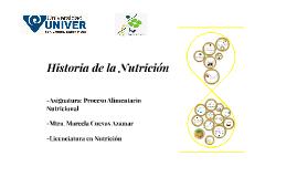 Historia de la Nutrición