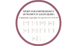 Sport for Empowering Women in Saudi Arabia