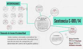 Sentencia C-081/14