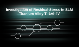 Investigation of Residual Stress in SLM Titanium Alloy Ti-6A