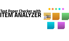 ITEM ANALYZER