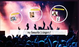 my favourite 3 singers !