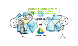 Dropbox  o Drives ¿Cuál  es  la mejor plataforma para  conse