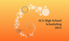 ACS High School Scheduling