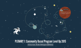 Copy of PLENARY 1: Community Based Program Level Up 2015