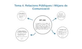 TEMA 4. Relacions Públiques i Mitjans de Comunicació 2015-2016