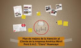 Plan de mejora de la Atención al Cliente de la empresa Améri