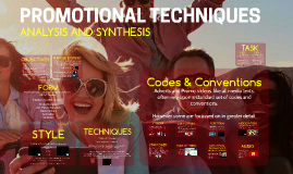 Promotional Videos Codes and Conventions