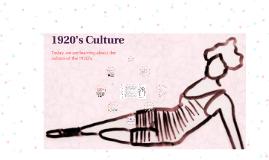 5 - 1920's Culture