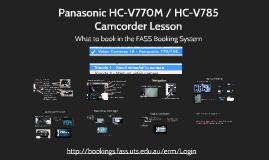 Panasonic 770 & 785 Camera Lesson Manual Settings