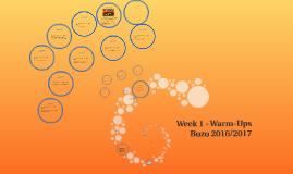 Week 1 Warm-Ups Bozo 2016/2017