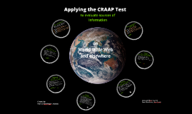Applying the CRAAP Test